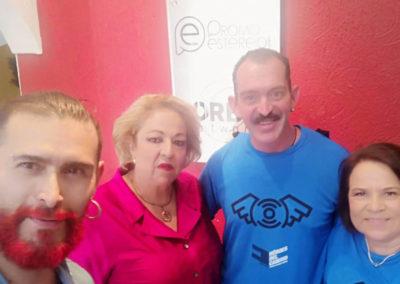 María Quijano, Olga De Ponty, Lolo y el inquieto Alfonso Villarreal